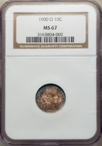 Click now to see the BUY IT NOW Price! 1900 O BARBER DIME 10C NGC MS67 SINGLE FINEST KNOWN SUPER  PG   $14 500