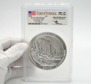 Click now to see the BUY IT NOW Price! 2010 5OZ SILVER ATB YOSEMITE NP PCGS MS69 DMPL FIRST STRIKE MERCANTI LOW POP