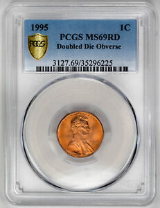 Click now to see the BUY IT NOW Price! 1995 1C DOUBLED DIE OBVERSE LINCOLN CENT   PCGS MS69RD CERTIFIED US  COIN