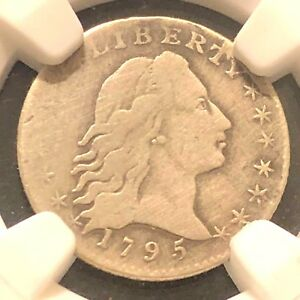 1795 FLOWING HAIR HALF DIME NGC FINE DETAILS CLEAR DATE EXCELLENT PRICE