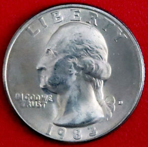 1983 D WASHINGTON QUARTER  HIGH GRADE CONDITION WITH SLIGHT TONING