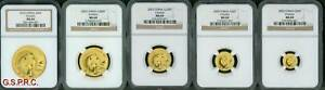 Click now to see the BUY IT NOW Price! 2003 5 COINS GOLD SET 500Y 200Y 100Y 50Y 20Y CHINESE PANDA NGC MS69 CHINA MS 69