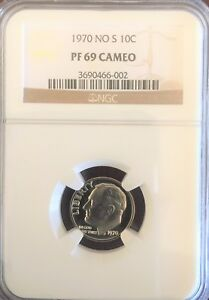 Click now to see the BUY IT NOW Price! 1970 NO S 10C CAMEO  PROOF  ROOSEVELT DIME  NGC PR69 CAMEO NO S