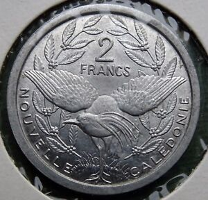 1949 NEW CALEDONIA COIN 2 FRANCS REPUBLIQUE FRANAISE UNION UNC KM 3