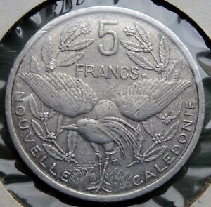 1952 NEW CALEDONIA COIN 5 FRANCS REPUBLIQUE FRANAISE UNION KM 4