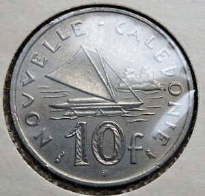 1970 NEW CALEDONIA COIN 10 FRANCS REPUBLIQUE FRANAISE UNION KM 5