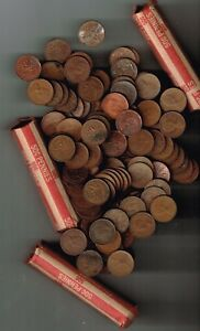 8 ROLLS CANADIAN COPPER PENNY COINS BUY 1 OR MORE ONLY 4.95 PER ROLL