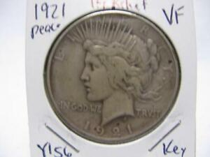 DATE 1921 PEACE DOLLAR NICE FINE  CONDITION  ESTATE COIN  Y156