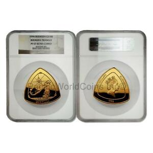Click now to see the BUY IT NOW Price! BERMUDA 1996 BERMUDA TRIANGLE $180 5 OZ GOLD COIN NGC PF 67 ULTRA CAMEO