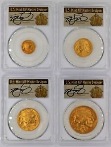 Click now to see the BUY IT NOW Price! 2008 W BURNISHED GOLD BUFFALO SET SP70 PCGS T CLEVELAND ART DECO  $5 10 25 50