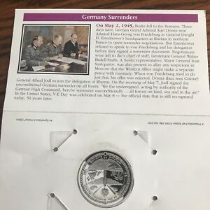 $5 COMMEMORATIVE COIN / VICTORY IN EUROPE / MARSHALL ISLANDS WITH