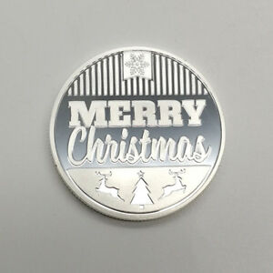 2018 WISHING YOU A MERRY CHRISTMAS XMAS HAPPY NEW YEAR COMMEMORATIVE COIN SILVER