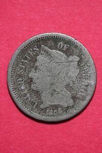 LOW GRADE 1868 THREE 3 CENT LIBERTY NICKEL EXACT COIN FLAT RATE SHIPPING OCE 312