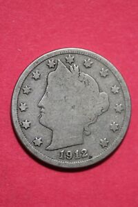 1912 D LIBERTY V NICKEL CENTS EXACT COIN PICTURED FLAT RATE SHIPPING OCE 354