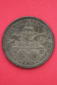 1893 COLUMBIAN EXPOSITION HALF DOLLAR EXACT COIN SHOWN FLAT RATE SHIPPING OCE177