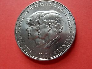 1981 COIN CHARLES & LADY DIANA SPENSER PRINCE OF WALES WEDDING DAY BRITISH ROYAL