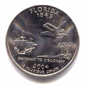 FLORIDA GATEWAY TO DISCOVERY SPACE SHUTTLE STATE QUARTER 2004 P COIN