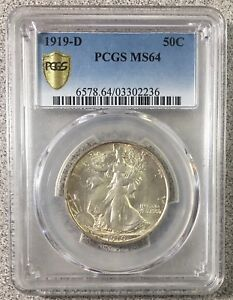 Click now to see the BUY IT NOW Price! 1919 D 50C PCGS MS64