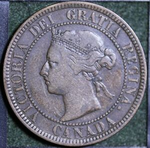798 1884 CANADIAN COINS LARGE CENT QUEEN VICTORIA