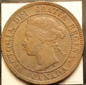 925 1893 CANADIAN COINS LARGE CENT QUEEN VICTORIA