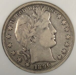 1896 BARBER HALF DOLLAR NGC VF25