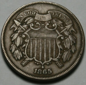 1865 P TWO CENT PIECE [SN01]