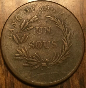 LOWER CANADA BANK OF MONTREAL TOKEN BOUQUET SOUS   BRETON 714