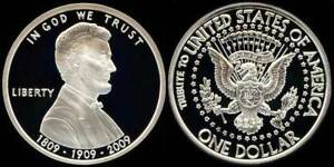 LINCOLN SILVER CLAD PRESIDENTIAL DOLLAR COIN