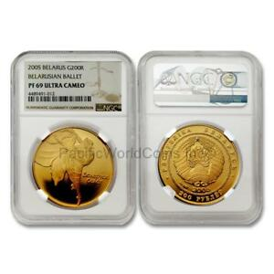 Click now to see the BUY IT NOW Price! BELARUS 2005 BELARUSIAN BALLET 200 RUBLES GOLD NGC PF69 ULTRA CAMEO SKU 7021