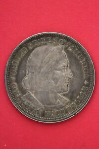 1893 COLUMBIAN EXPOSITION HALF DOLLAR EXACT COIN SHOWN FLAT RATE SHIPPING OCE216