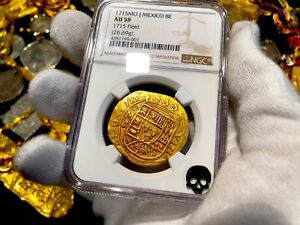 Click now to see the BUY IT NOW Price! MEXICO 1715 NGC 58 FLEET SHIPWRECK 8 ESCUDOS PIRATE GOLD COINS TREASURE COB