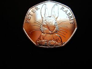 2016 50P BEATRIX POTTER PETER RABBIT UNCIRCULATED FIFTY PENCE COIN 11 WHISKERS