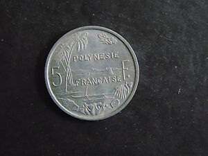 FRENCH POLYNESIA 5 FRANCS KM 4 1965 A       A 586  I COMBINE SHIPPING