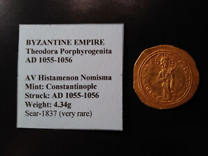 Click now to see the BUY IT NOW Price! BYZANTINE EMPIRE THEODORA PORPHYROGENITA AD 1055 1056 GOLD HISTAMENON NOMISMA