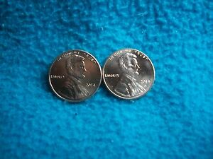 2014 P & D LINCOLN SHIELD CENT UNCIRCULATED