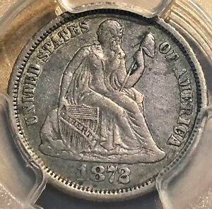 Click now to see the BUY IT NOW Price! ULTRA  1872 CC SEATED DIME PCGS XF40 NICE ORIGINAL SCRATCH FREE HOLDER CHN