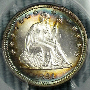 Click now to see the BUY IT NOW Price! 1891 SEATED LIBERTY QUARTER VARIETIES MS 64 PCGS