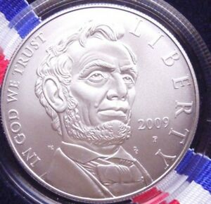UNITED STATE MINT 2009 ABRAHAM LINCOLN SILVER DOLLAR W/MINT BOX AND COA