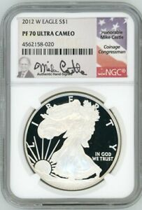 Click now to see the BUY IT NOW Price! 2012 W PROOF SILVER EAGLE PF70 ULTRA CAMEO NGC MIKE CASTLE