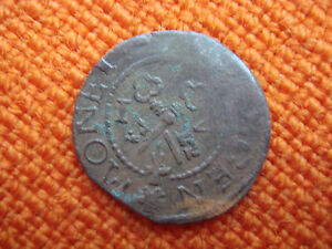 OLD MEDIEVAL LIVONIA RIGA 1571 SHILLING COIN   331