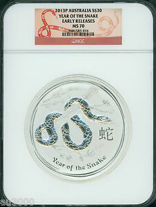 Click now to see the BUY IT NOW Price! 2013 P $30 S$30 AUSTRALIA LUNAR II SNAKE 1 KILO SILVER NGC MS70 EARLY RELEASES