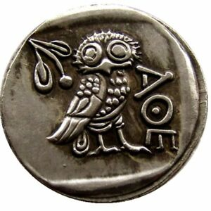 ANCIENT ATHENS GREEK DRACHM   ATENA GREECE OWL DRACHMA  SILVER COIN