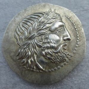 ANCIENT GREEK KING PHILIP II ST SILVER TETRADRACHM OF MACEDON 323 BC COIN