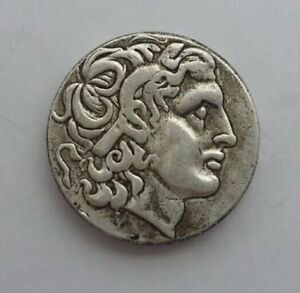 ANCIENT GREEK KING ALEXANDER III THE GREATCOIN 336 323 BC SILVER PLATED DRACHM