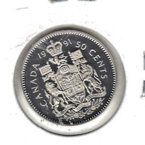 CANADA 1991 PROOF FIFTY CENT