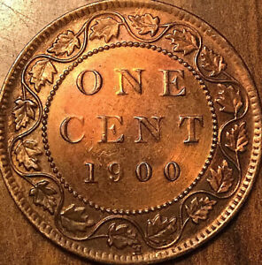 1900H CANADA LARGE CENT LARGE 1 CENT PENNY   CLEANED/POLISHED