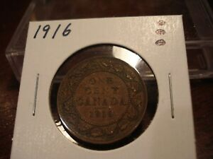 1916   CANADA ONE CENT   CANADIAN PENNY