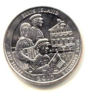 BU 2017 S ELLIS ISLAND NEW JERSEY U.S QUARTER COIN SAN FRANCISCO MINT
