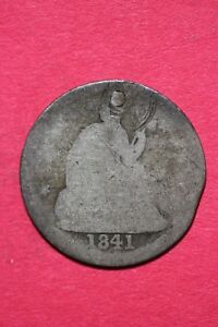 CULL 1841 O SEATED LIBERTY HALF DIME EXACT COIN SHOWN FLAT RATE SHIPPING OCE 151