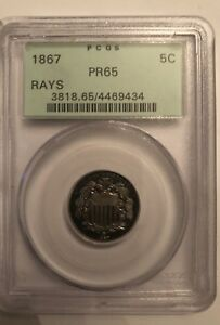 Click now to see the BUY IT NOW Price! 1867 RAYS SHIELD NICKEL PCGS PR 65 RETAIL SELLER